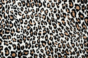 In de dag Luipaard Brown and black leopard pattern.Fur animal print as background.