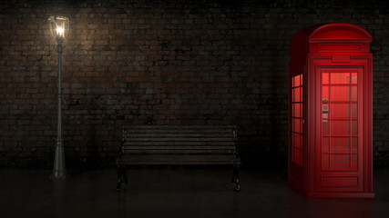 British Phone Booth in London