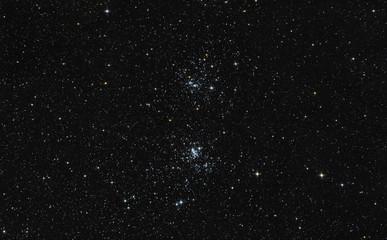 Doppio ammasso di stelle nella costellazione del Perseo