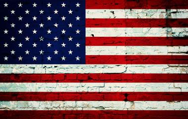 Grunge USA Flag. Background of national flag of United States of