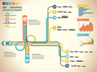 highway vector background,info graphic,