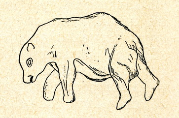 Draving of cave bear (Les Combarelles, France)