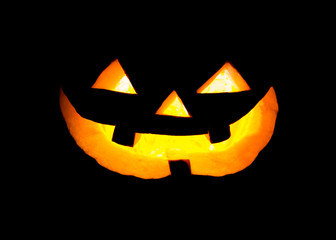 Pumpkin face in dark