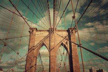 Brooklyn Bridge - old and vintage