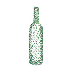 Vector wine bottle .