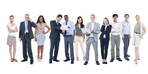 Fototapeta Multiethnic Group of Business People Working