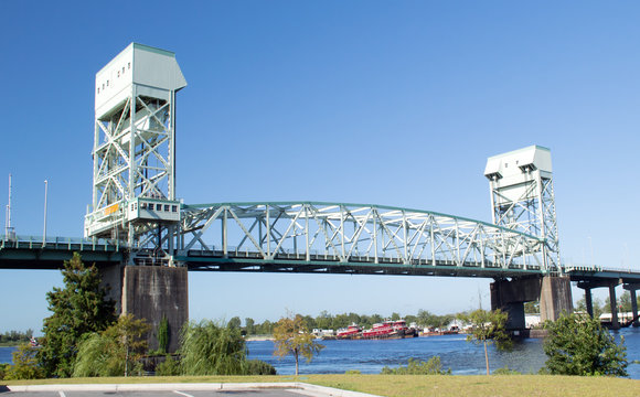 Cape Fear Memorial Bridge Wilmington, NC USA August 24, 2014