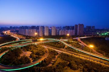 Foto op Aluminium Kuala Lumpur Aerial view of the city viaduct