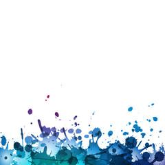 niebieskie kleksy