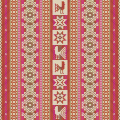 South american traditional textile geometric pattern