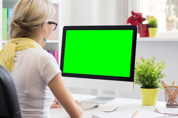 Blank computer display for your own presentation or image