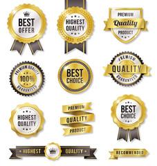 Obraz Golden Vector Commercial Labels - fototapety do salonu