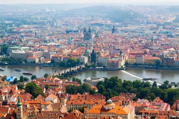 Prague.The Vltava river.