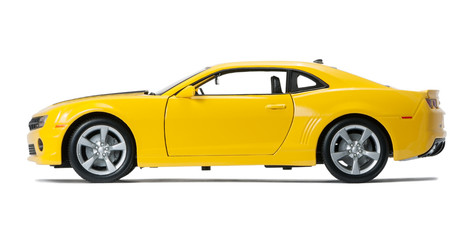 Fototapeta New yellow model  sports obraz