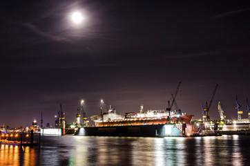 Hafen im Mondschein