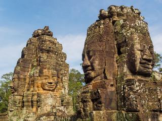 カンボジア アンコールトム バイヨン寺院の石仏