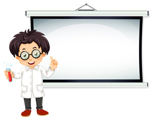 Scientist and screen