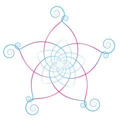 Flower of the Venus Calligraphic White