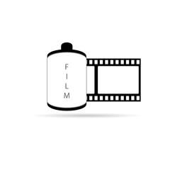 camera film icon vector illustration