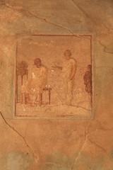 Malerei auf einer Wand in Pompeji - Theater-Szene