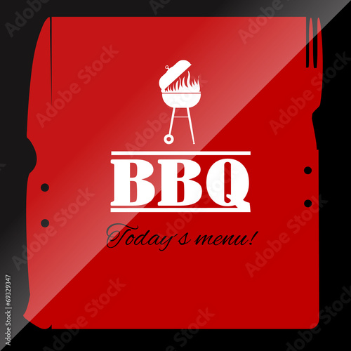bbq menu template for restaurant or pub stock image and royalty
