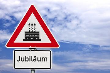Schild Jubiläum