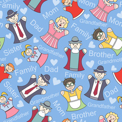 Vector pattern with members of a large family