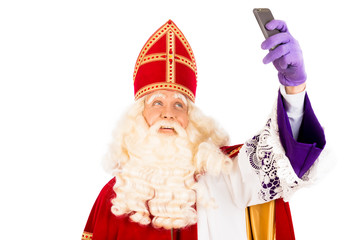 Sinterklaas taking Selfie