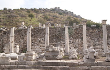 The columns in Ephesus