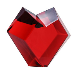 Red heart isolated