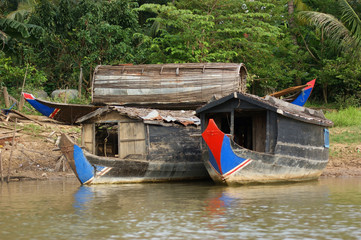 riverside scenery in Cambodia