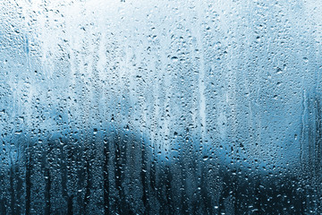 rain on glass Wall mural
