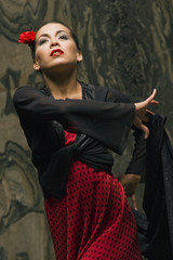 Close-up of a woman dancing