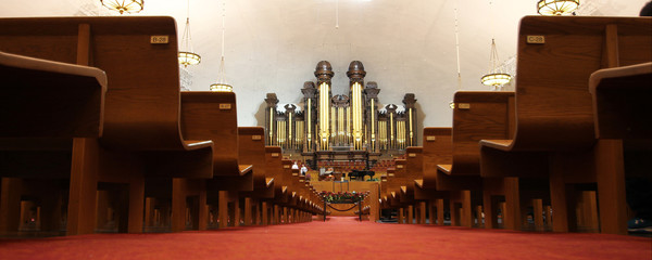 Foto auf AluDibond Tempel Salt Lake City Tabernacle