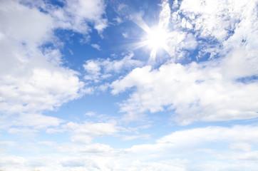 like sun on blue sky