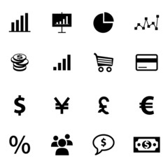 Set of economy and finance related icons