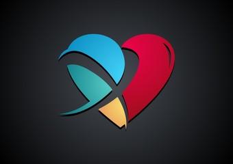 religious,logo,cross,spirit,heart,plus,care,wellness,health,love