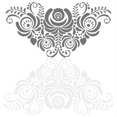 Ornate vector background in traditional Russian style Gzhel