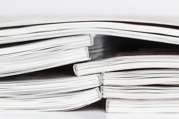 Pile of magazine.
