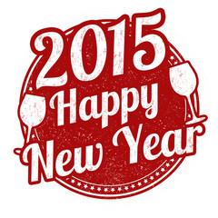 Happy new year stamp
