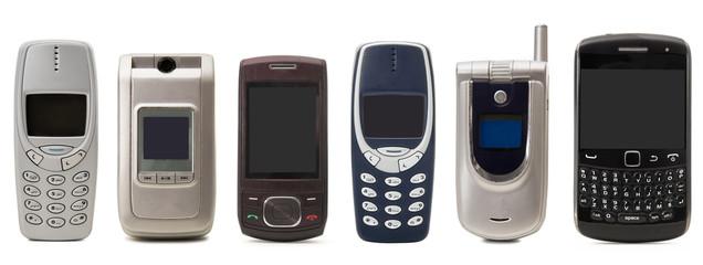 vecchi cellulari collage