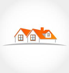 Houses apartments vector logo identity card