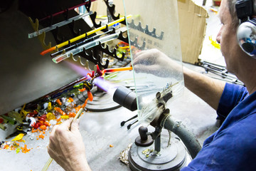 Handmade glass creative handwork glass figurines