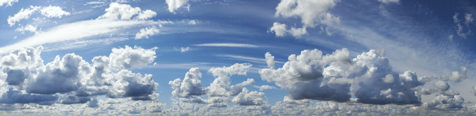 Blue sky with cloud, panoramic sky background. Wall mural