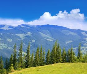 Fototapete - Nice mountain scene