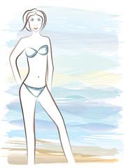 Girl contour 2