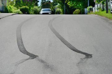 Document Tire Marks from accident scene