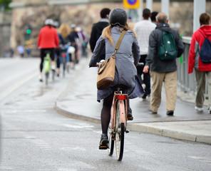 Fototapete - Bike crowd