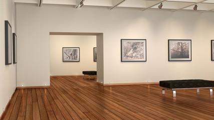 Bildergalerie mit edlem Holzfußboden