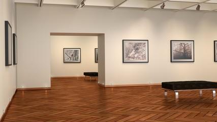 Bildergalerie mit Holzfußboden,Fischgrätmuster
